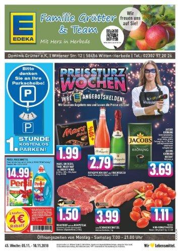 Edeka Grütter Angebote Vom 05 Bis Zum 10032018