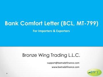 Bank Comfort Letter Procedure