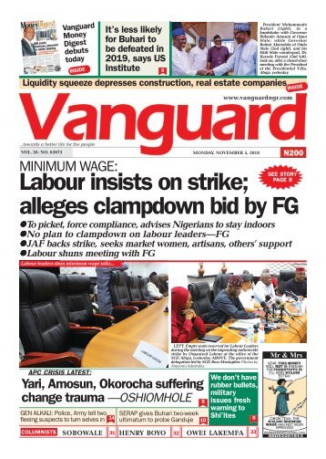 05112018 - MINIMUM WAGE: Labour insists on strike; alleges clampdown bid by FG
