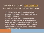 Wire-IT Solutions 8443130904 Internet and Network Security