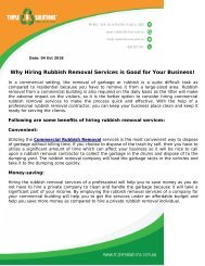 Why Hiring Rubbish Removal Services is Good for Your Business!
