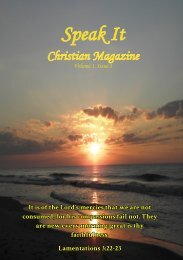 Speak It Christian Magazine Issue 1