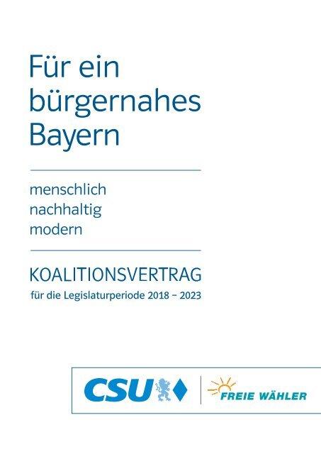 Koalitionsvertrag-CSU-Freie-Wähler-2018