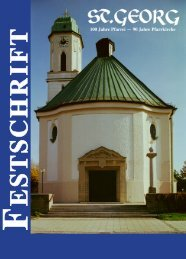 F E S T S C H R IF T - Pfarrei St. Georg - St. Georg, Milbertshofen