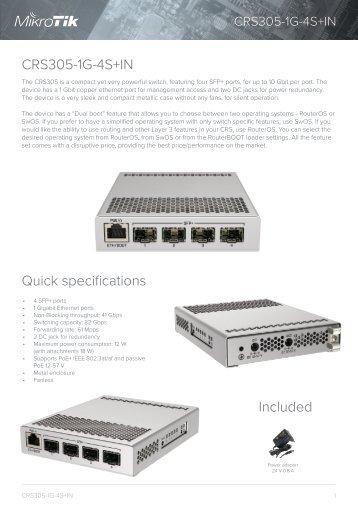 CRS305-1G-4S-IN-Mikrotik - Mstream.com.ua