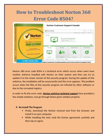 How to Troubleshoot Norton 360 Error Code 8504?