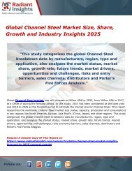 Global Channel Steel Market Size, Share, Growth and Industry Insights 2025