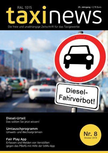 RAL1015 taxi news Heft 08-2018