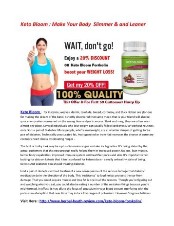 Keto Bloom : It Improve Your Metabolism & Make Lean MUscle