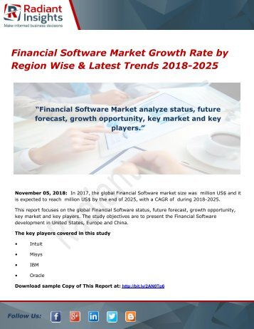 Financial Software Market Growth Rate by Region Wise & Latest Trends 2018-2025