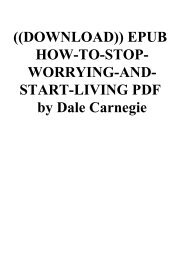 ((DOWNLOAD)) EPUB HOW-TO-STOP-WORRYING-AND-START-LIVING PDF by Dale Carnegie