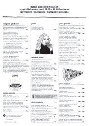 Siesta menu, listopad-prosinec