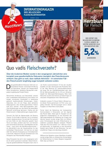 Belgian Meat Office - Meat News 2/2018