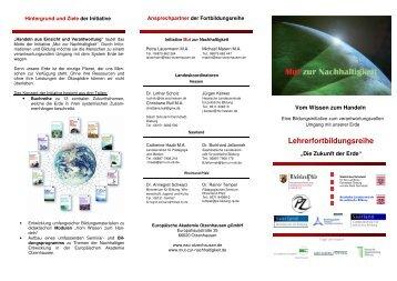 Lehrerfortbildungsreihe - Bildung für nachhaltige Entwicklung ...