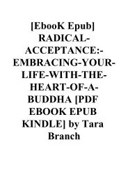 Radical Acceptance Epub