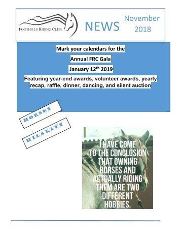 November 2018 FRC Member Newsletter