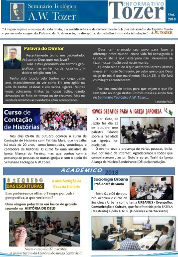 informativo Tozer - novembro
