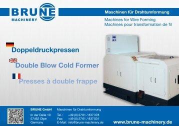Brune Prospekt Doppeldruckpressen - Brune-Machinery Stand: 03-16