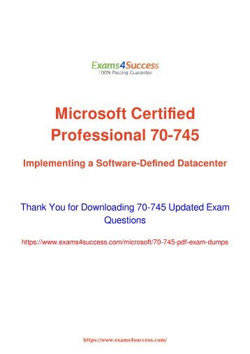 Microsoft 70-745 Exam Dumps [2018 NOV] - 100% Valid Questions