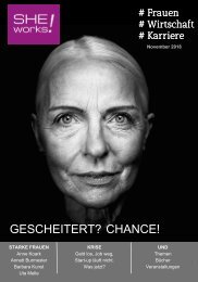SHE works! - Das Wirtschafts- und Karrieremagazin für Frauen