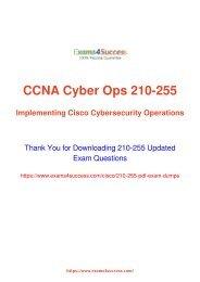 Latest Lead4pass Cisco 210-255 Dumps Pdf Shared