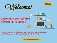 Yahoo Mail Contact Number +1-877-336-9533