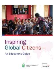 Inspiring Global Citizens- An Educator's Guide