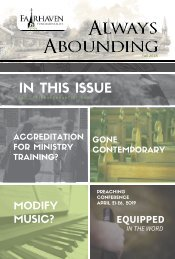 Always Abounding - Fall 2018 - Volume 3
