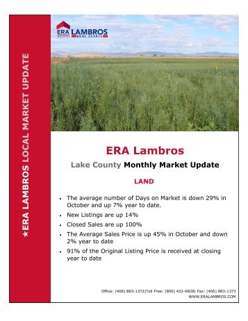 Lake County Land Market Update - October 2018