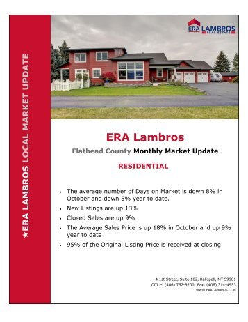 Flathead County Residential Market Update - October 2018