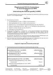 Anlage zu AVB: Pflegesatz-Tarif - Kreisklinik Ebersberg GmbH