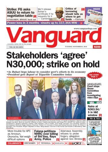 "06112018 - Stakeholders ""agree"" N30,000; strike on hold"