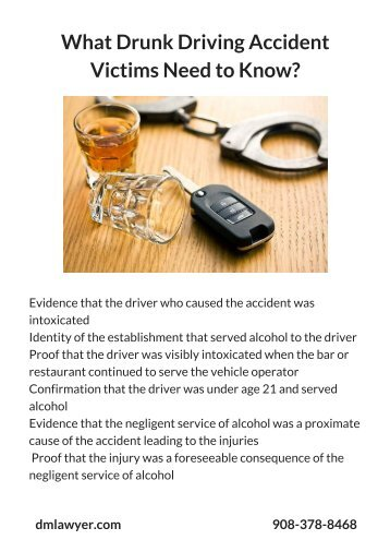 What Drunk Driving Accident Victims Need to Know_