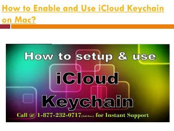 How to Enable and Use iCloud Keychain on Mac