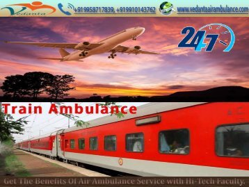 Book an Emergency ICU Medical Facility by Vedanta Air Ambulance Service in Ranchi