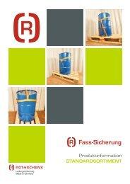 Fass-Sicherung Broschüre Rothschenk