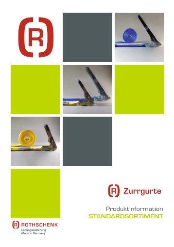 Zurrgurte Broschüre Rothschenk