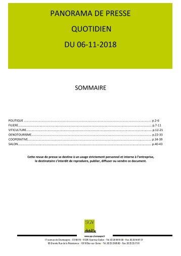 Panorama de presse quotidien du 06-11-2018