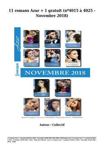 Télécharger Livre Gratuit 11 romans Azur + 1 gratuit (nº4015 à 4025 - Novembre 2018) (PDF - ePub - Mobi) Auteur Collectif