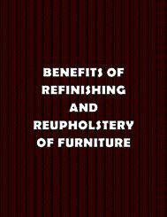 Benefits of Refinishing and Reupholstery of furniture