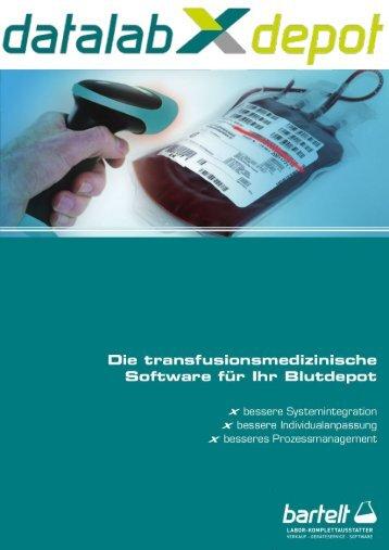 datalabXdepot: Effizienz und Sicherheit in der Transfusionsmedizin