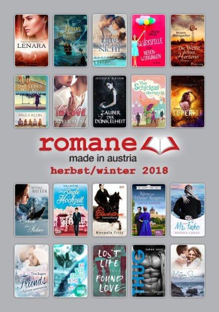 Broschüre - Romane - Made in Austria Herbst - Winter 2018