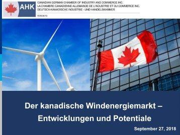 Export: Der kanadische Windenergiemarkt - Entwicklung und Potenziale