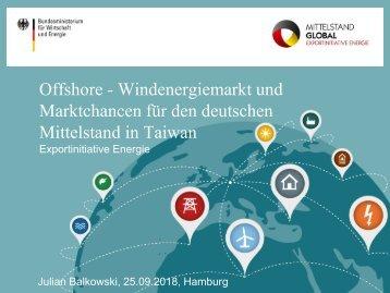 Export: Offshore - Windenergiemarkt und Marktchancen für den deutschen Mittelstand in Taiwan