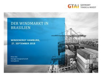 Export: Der Windmarkt in Brasilien