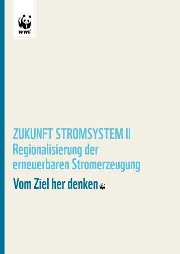 WWF Studie: Regionalisierung der erneuerbaren Stromerzeugung