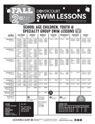 Dovercourt Fall 2 Swim lessons 2018-19