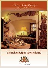 Speisenkarte Burg Schnellenberg
