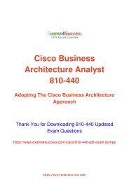 Cisco 810-440 Exam Dumps [2018 NOV] - 100% Valid Questions