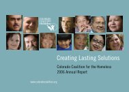 Creating Lasting Solutions - Colorado Coalition for the Homeless